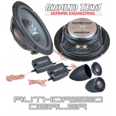 "Ground Zero GZRC 165NEO 6.5"" 16.5cm 2 way slim fit car component speakers"