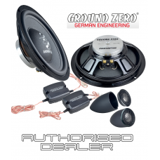 "Ground Zero Radioactive GZRC 200NEO-IV 8"" 20cm 2 way car component slim speakers"