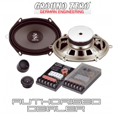 "Ground Zero GZRC 6857X 5""x7"" 6""x8"" 2 way car component speaker set 120w RMS"