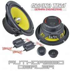 "Ground Zero Titanium GZTC 165 6.5"" 16.5cm 2 way car component speakers 100w RMS"