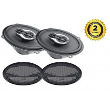"""Hertz Mille Pro MPX690.3 6""""x9"""" 3 Way Triaxial Car Audio Speakers inc grills"""
