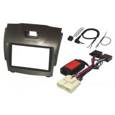 InCarTec FK-799/1 Isuzu D-Max 2012 On Double Din Car Stereo Fitting Kit - GREY
