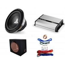 "JL Audio 10W0v3 10"" Car Audio Subwoofer 300w RMS + JX250 Amp + Box + Wiring Kit"