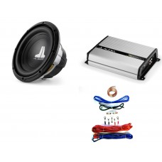 "JL Audio 12W0v3 12"" Car Audio Subwoofer 300w RMS + JX250 Amp + Wiring Kit"