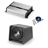 "JL Audio CP112 12"" Subwoofer in Box + JL Audio JX250/1 amp + wiring kit"