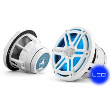 JL Audio M880-CCX-SG-WLD-B: 8.8-inch (224 mm) Cockpit Coaxial System, White Sport Grilles with Blue LED