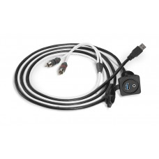 JL Audio XMD-USB/3.5MM-PNL Combo 3.5 mm Audio Jack and 9 Wire USB Port for Panel-Mounting