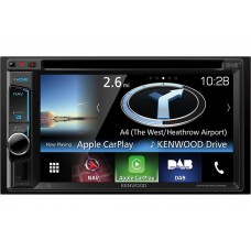 "Kenwood DNX5160DABs Double Din CD DVD Player 6.2"" DAB Nav Bluetooth USB Car Play"