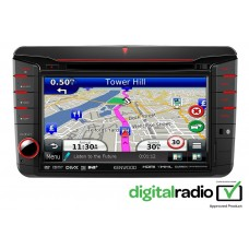 Kenwood DNX525DAB VW Seat Skoda Double Din Stereo Upgrade Nav BT USB AUX iPhone