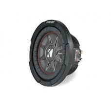 "Kicker 43CWRT82 CompRT 8"" Thin Profile Dual Voice Coil Car Audio Subwoofer"