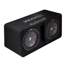 "Kicker 43DCWR122 CompR Dual 12"" Vented Car Audio Subwoofer Enclosure - 1000w RMS"
