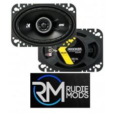 """Kicker 43DSC4604 DS 4"""" x 6"""" (100 x 160 mm) Coaxial Speaker System 30w RMS"""
