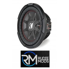 "Kicker 43CWRT101 CompRT 10"" Thin Profile Dual Voice Coil Subwoofer - 1 Ohm"