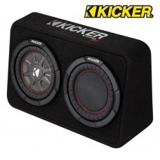 "Kicker 43TCWRT104 Twin 10"" Sealed Passive enclosure Bass Box - 400W RMS"