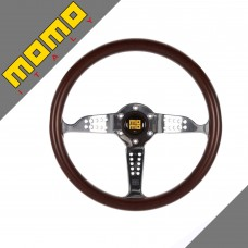 GENUINE Momo Super Grand Prix 350mm Mahogany Wood steering wheel