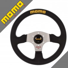 GENUINE Momo Competition Evo Steering Wheel 320mm Black Leather