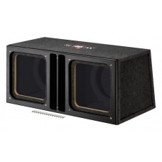"MTX AUDIO MTXSLH12X2SU Dual 12"" Square Unloaded SledgeHammer Enc"