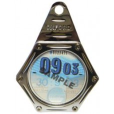 OXFORD MOTORCYCLE/BIKE TAX DISC HOLDER SILVER