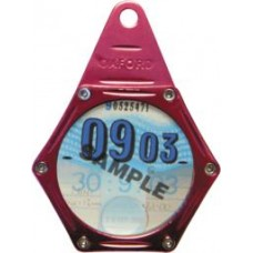 OXFORD MOTORCYCLE/BIKE TAX DISC HOLDER RED