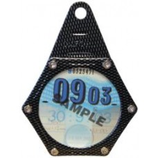 OXFORD MOTORCYCLE/BIKE TAX DISC HOLDER CARBON