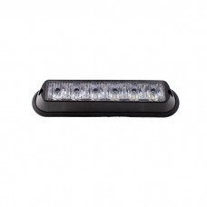6 LED Warning Light Surface Mount - High Intensity Amber Orange