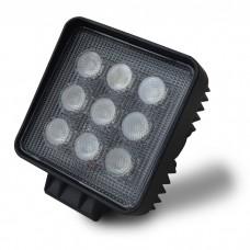 Square 3 Watt 9 LED Car Truck Van Work Light 10V-30V
