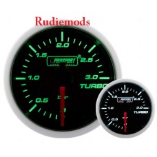 Prosport Diesel 52mm Smoked Super Green/White Turbo Boost Gauge 0-3 Bar