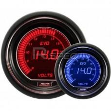 Prosport 52mm EVO Car DC Voltage Red Blue LCD Digital Display