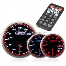 Prosport 52mm Turbo Boost Gauge PSI Smoked Stepper with Remote Control