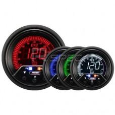 Prosport Evo 60mm LCD Oil Temp Deg C Gauge 4 colour with peak and warning