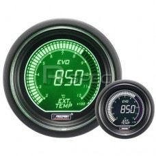 Prosport 52mm EVO Car Exhaust Gas Temperature Green White LCD Digital Display