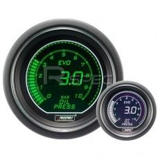 Prosport 52mm EVO Car Oil Pressure Gauge BAR Green and White LCD Digital Display