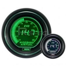Prosport 52mm EVO Car Wideband Air Fuel Ratio Green White LCD Digital Display