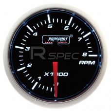 52mm Super Smoked White Rev Counter Gauge 0-8000 RPM