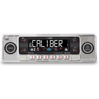 Caliber RCD110 retro look car CD MP3 USB SD card AUX chrome