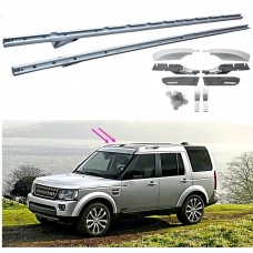 Land Rover Discovery 3 4 Metal SILVER Roof Rails Factory style