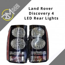 Gloss Black LED Rear Tail Lights to fit Land Rover Discovery 4 Facelift Look