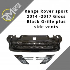 Fits Range Rover Sport L494 2014 On Gloss Black Grille and Side Vents