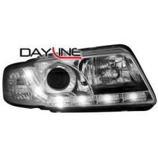 Audi A4 B5 99-01 chrome R8 Devil eye headlights LHD