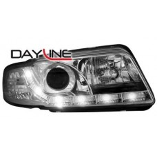 Audi A4 B5 95-98 chrome R8 Devil eye headlights LHD