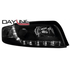 Audi A4 B6 01-04 black R8 Devil eye headlights LHD