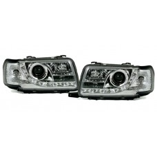 Audi 80 B4 91-94 chrome R8 Devil eye headlights LHD