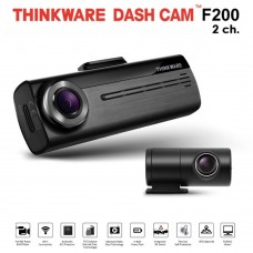 Thinkware F200 Front & Rear Dash Cam With Impact G Sensor Wifi 1080p Hardwire