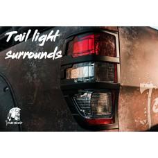 Tomahawk Ford Ranger 2016 On Rear Light Surrounds Black ABS Plastic - 1 Pair