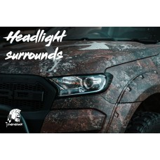 Tomahawk Ford Ranger 2016 On Front Light Surrounds Black ABS Plastic - 1 Pair