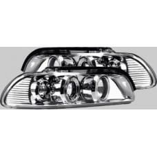 BMW 5 series E39 chrome design angel eye headlights