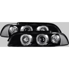 BMW 5 series E39 black design angel eye headlights