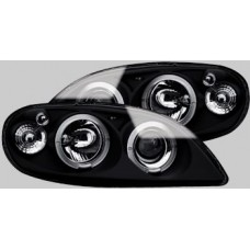 Citroen Saxo MK2 black angel eye headlights