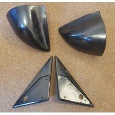 Black Manual DTM Style Mirrors & Base Plates fits BMW E34 5 Series 1988 - 1995