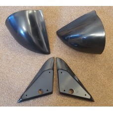 Black Manual DTM Style Mirrors & Base Plates fits BMW E30 3 Series 1982 - 1991